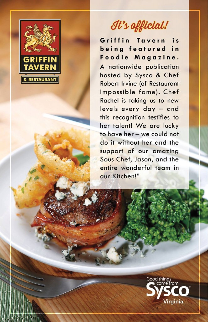 Griffin Tavern featured in Foodie Magazine