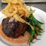 Griffin Steak with Merlot Butter and Redbeard Onion Tangle