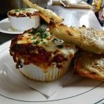 Lasagna Special with Grilled Garlic Bread