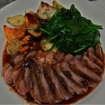 Roasted Duck with Root Vegetables and Spinach Special