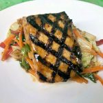 Grilled Snakehead, Keith Rowand's Rappahannock Honey & Soy Marinated, Veg with Asian Flavor