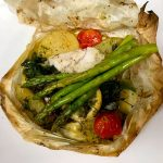 Northern Freshwater Walleye en Papillote  after with asaragus