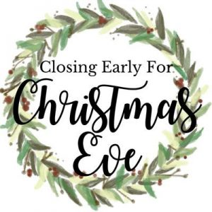 Closing at 7:00pm